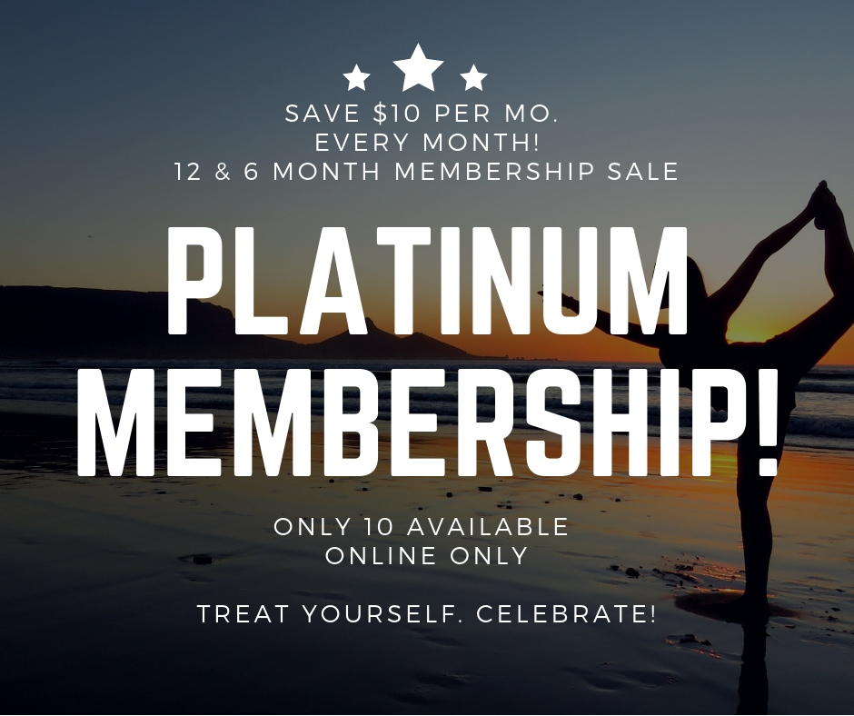 - SOLD OUTSave $120 on a 12 month membershipSave $60 on a 6 month membership$10 off each and every month on your active membership!
