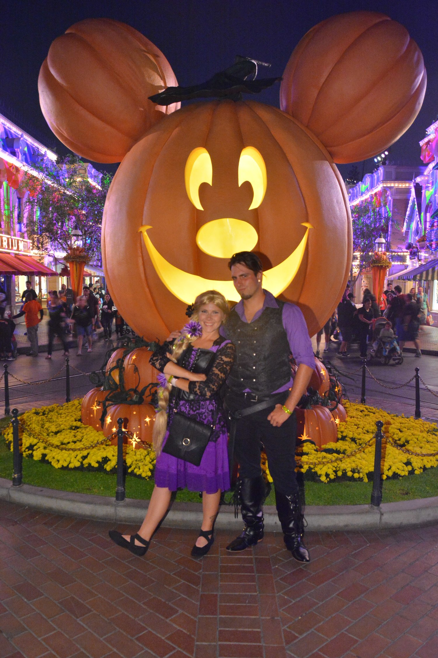 mickey's halloween party at disneyland — the compass couple