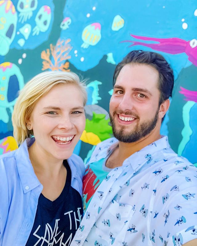 We had way too much fun visiting @aquariumpacific this weekend. We were honestly shocked at how much there was to do! The only good thing about blackout season from Disneyland is being pushed to try some new adventures! . . . . #aopandme #aopandus #aquariumofthepacific #mural #aquariumwalls #fishy #visitlongbeach #visitanaheim #visitlosangeles #longbeach #californialiving #notadisneywall #disneystyle #targetstyle #kholsstyle #travelcouple #disneycouple #adventurecouple #bestfriend #engaged #instacute #instaart #instafamous #instacouple #relationshipgoals