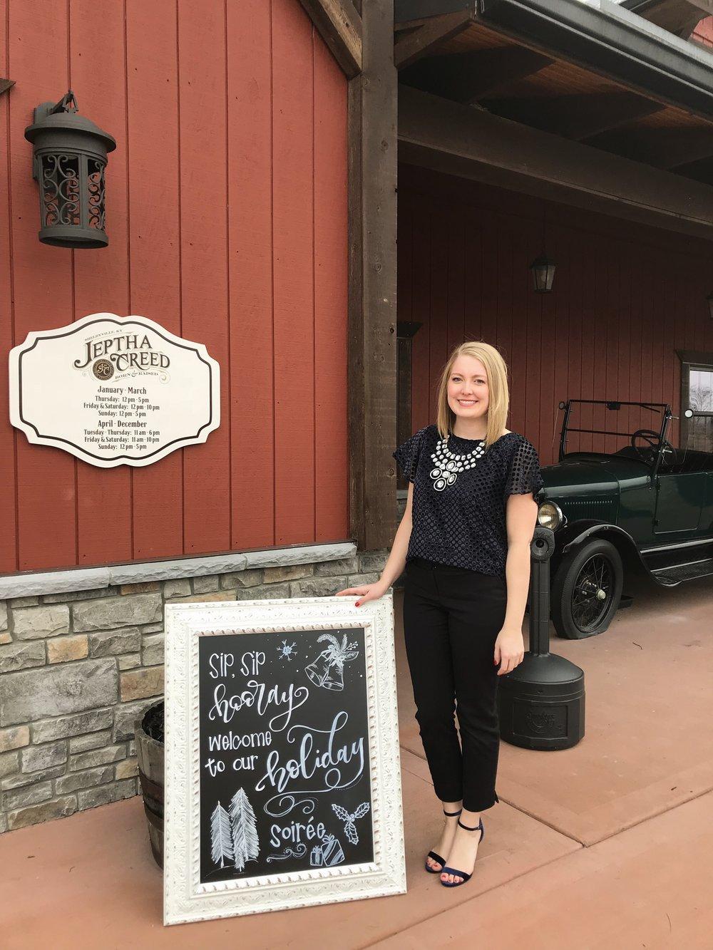 Sign by  Lexington Lettering  / Venue  Jeptha Creed Distillery  / Photo by Samantha Fletcher