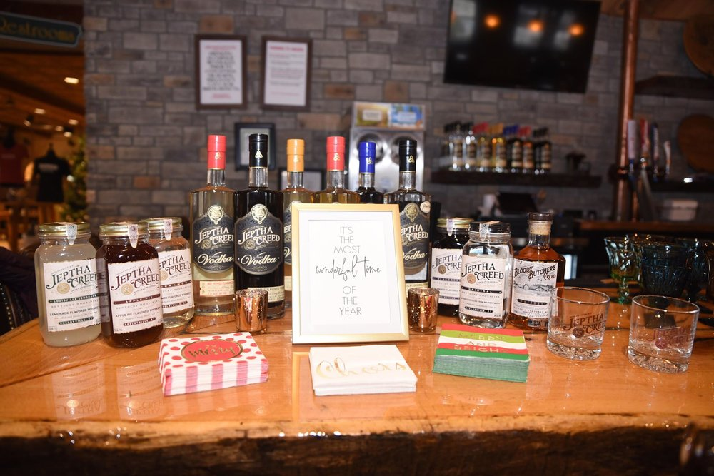 Jeptha Creed's Full Line of Spirits Including several flavors of Moonshine and Vodka and a 6-Month Whiskey / Photo by Jenny of Jenfolio