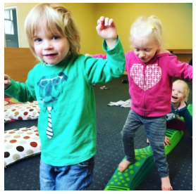 Gross Motor   In this program we focus on higher level balance and gross motor skill development such as balancing on one foot.