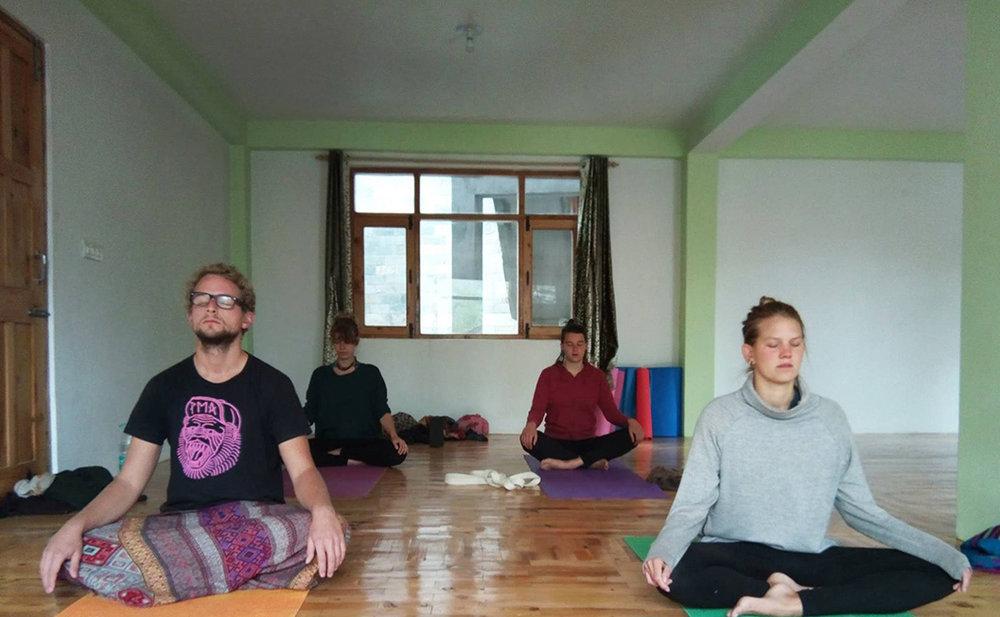 Yoga in our Homestay Yoga Studio