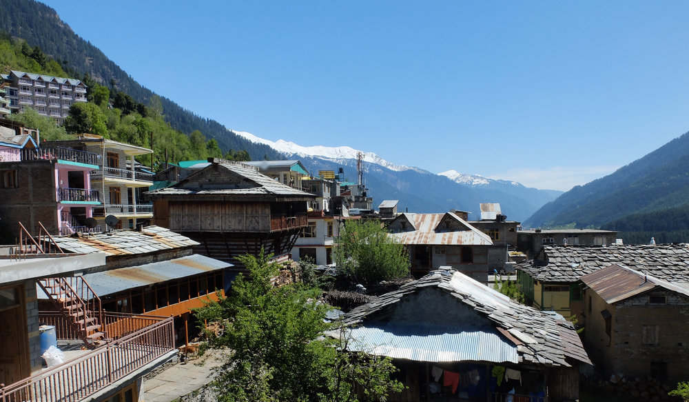 View from our family homestay in Vashisht.