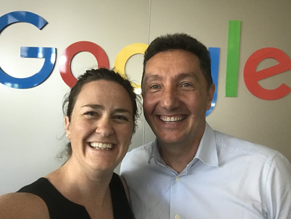 Cheesy selfies with the Head of Small Business at Google Australia, John Ball