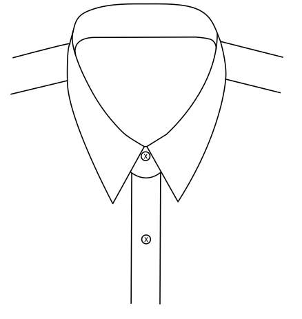 Pointed Collar 6.4cm