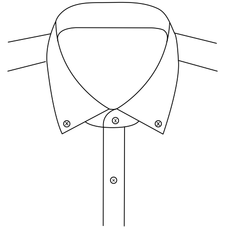 Button Down Collar 6.4cm