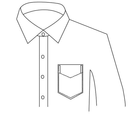 LEFT TRIANGLE POCKET