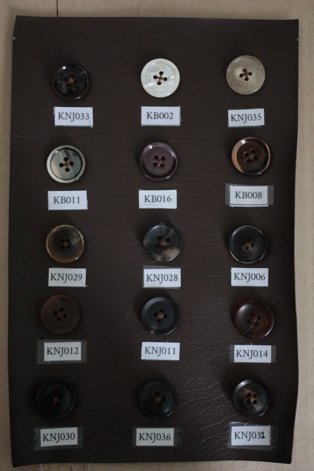 Different types of buttons to spice up your suit.