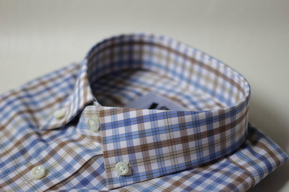 Brown Plaid Collar