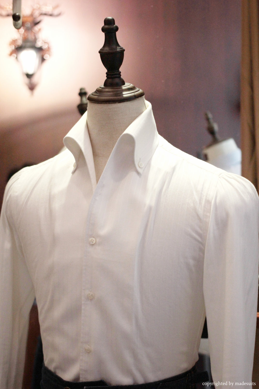 one piece collar | Tailored Shirts Singapore | Custom shirts | Formal Shirts | Made Suits