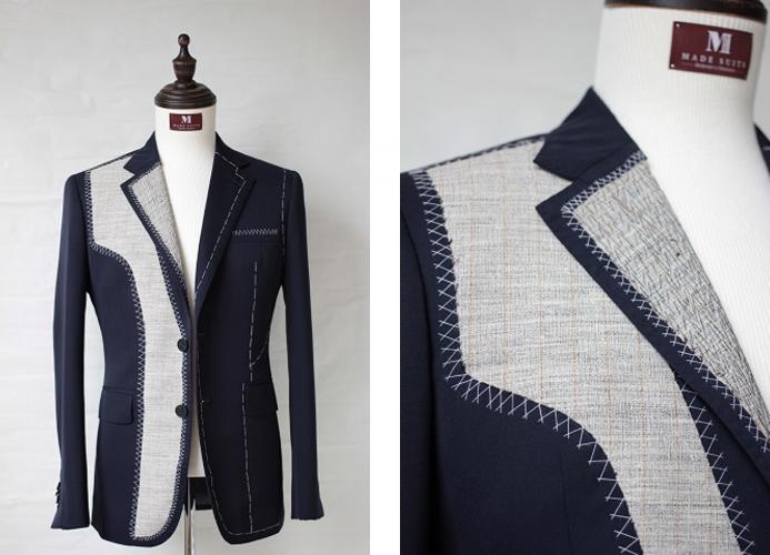 CRÈME DE LA CANVAS: A full-canvassed men's suit jacket in construction (PHOTO:    Made Suits   ).