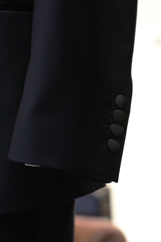 Satin Wrap Tuxedo Sleeve Button