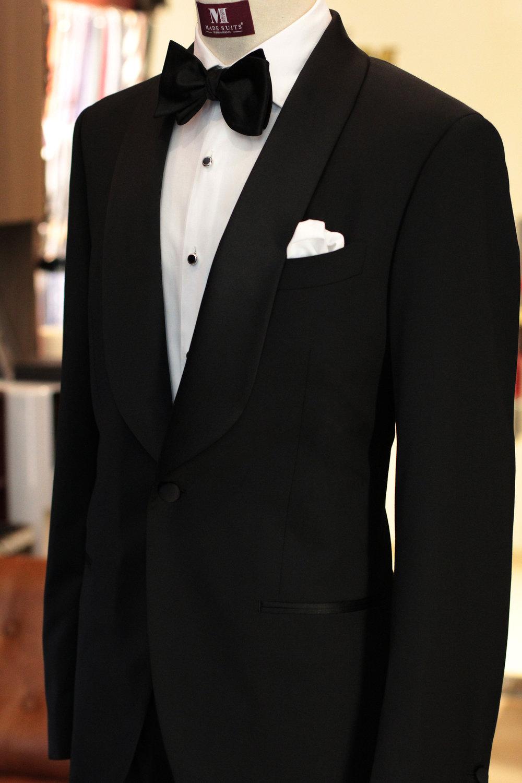 Our Tuxedo Include satin wrap lapels