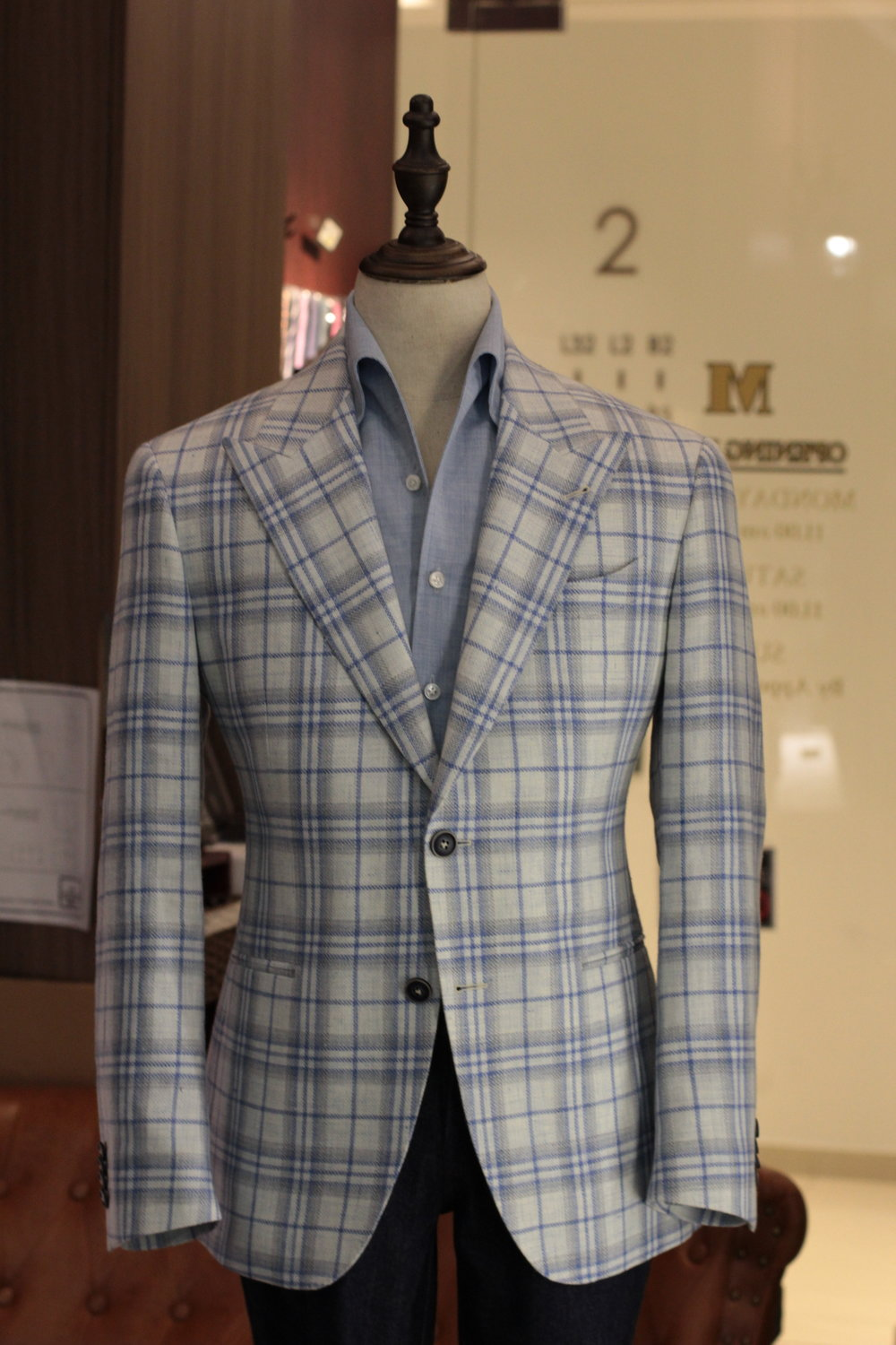 Mr Speckless | Tailor Made Suits | Made Suits Stylbiella looks front back.JPG