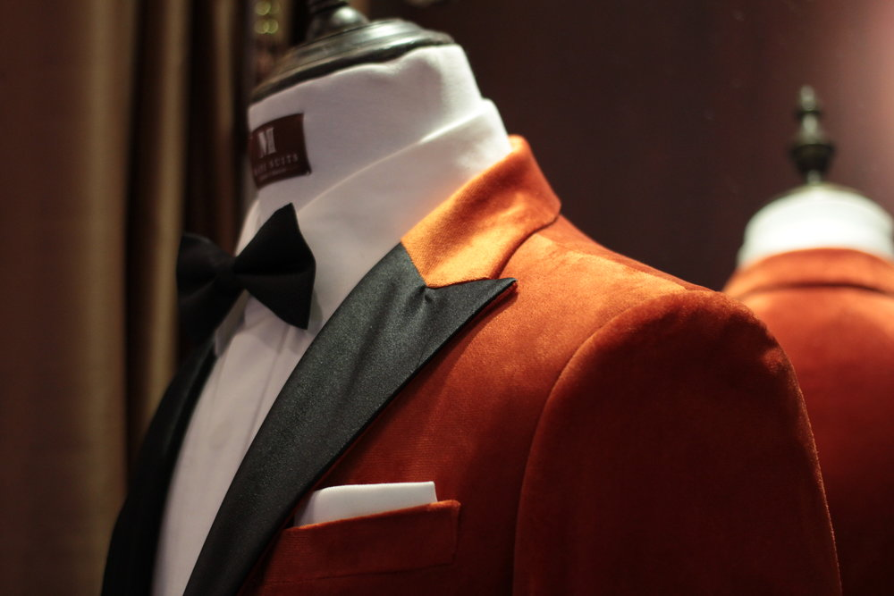 Mr Eggsy Kingsman Tuxedo Orange Suits Made Suits Made to measure Bespoke tuxedo.JPG