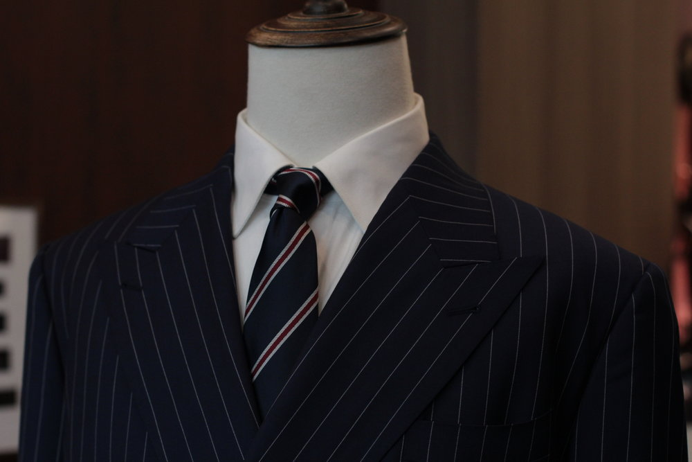 Made Suits | STYBIELLA | THE MANHATTAN | MADE TO MEASURE SINGAPORE TAILOR front button double breasted front view.JPG