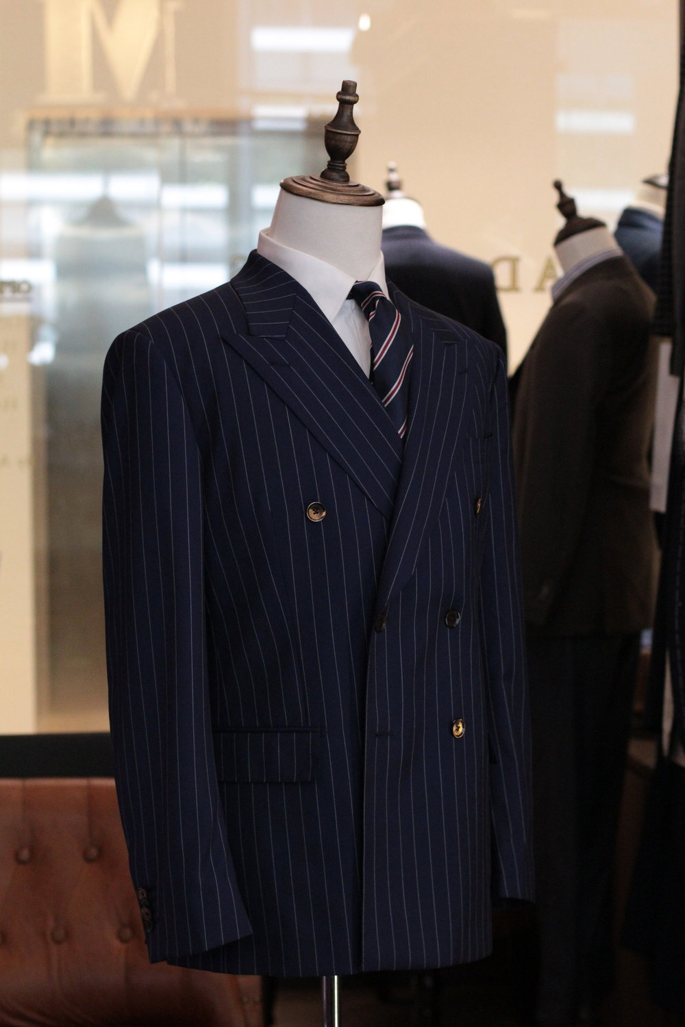 Made Suits | STYBIELLA | THE MANHATTAN | MADE TO MEASURE SINGAPORE TAILOR front button double breasted side view.JPG