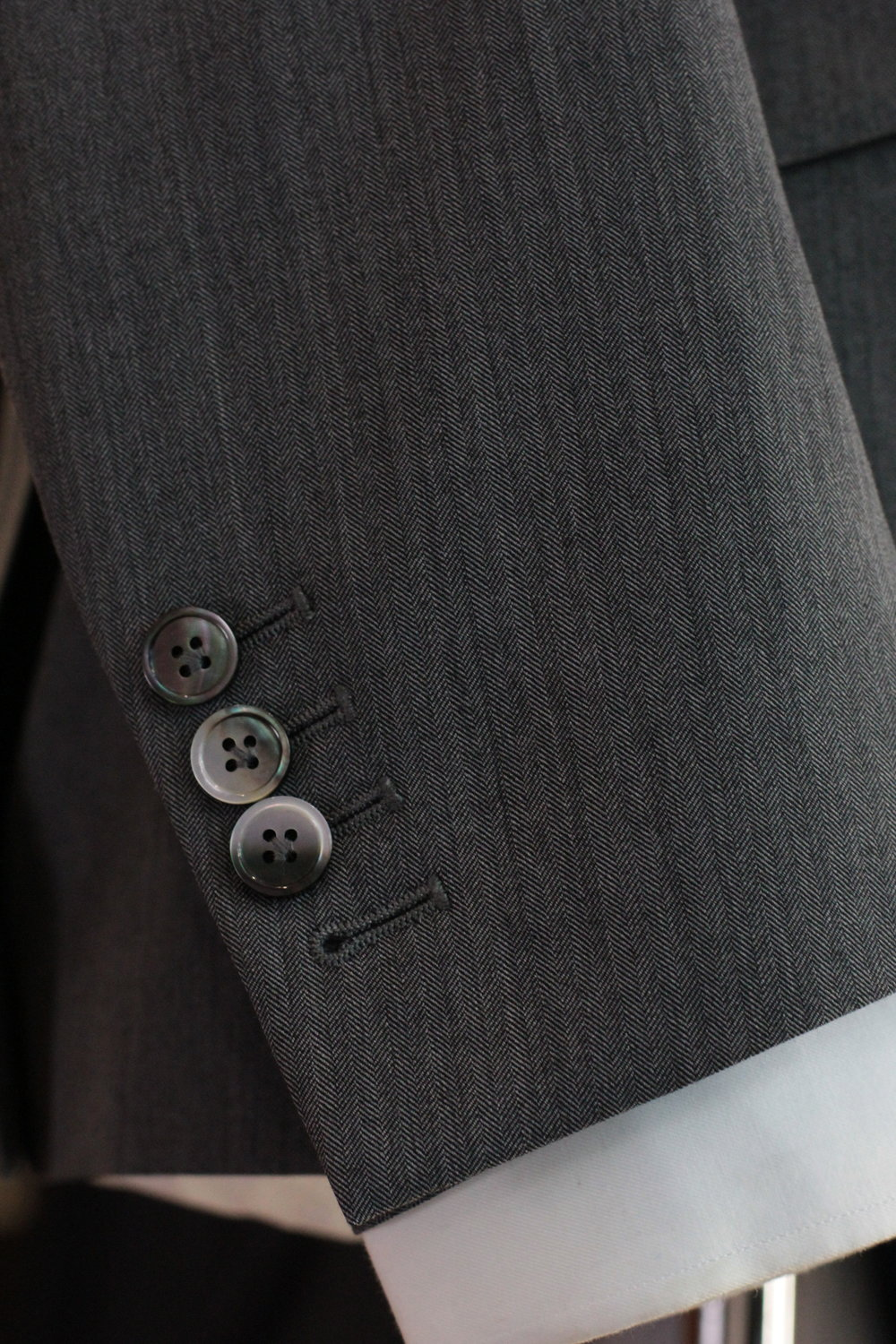 Functional Sleeve Button.