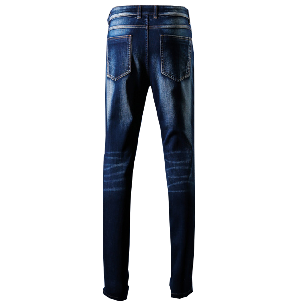 Back Denim Jeans Blue Faded| Bespoke| Made to measure | Denim Jeans HYSS16048 Blue.png