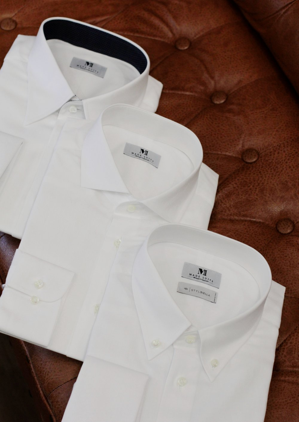 Crisp white shirts are a need for all gentlemen's wardrobe  (one can never had enough of whites)