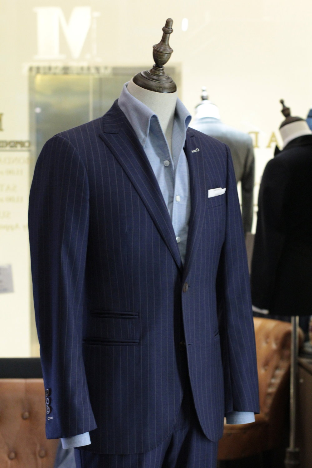 Mr Creative   Tailor Made Suits   Pinstripe Suits   Bespoke Suit Singapore   Singapore Tailor side view.JPG