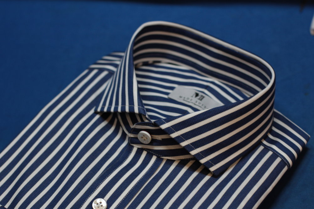 Blue white stripes collar 1.JPG