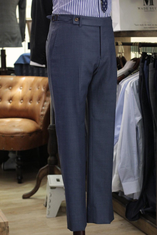 陈先生 Super 130 sharkskin blue | Made Suits | Bespoke Trousers | Made to Measure Trousers | Singapore Tailor Made Suits Side View.JPG