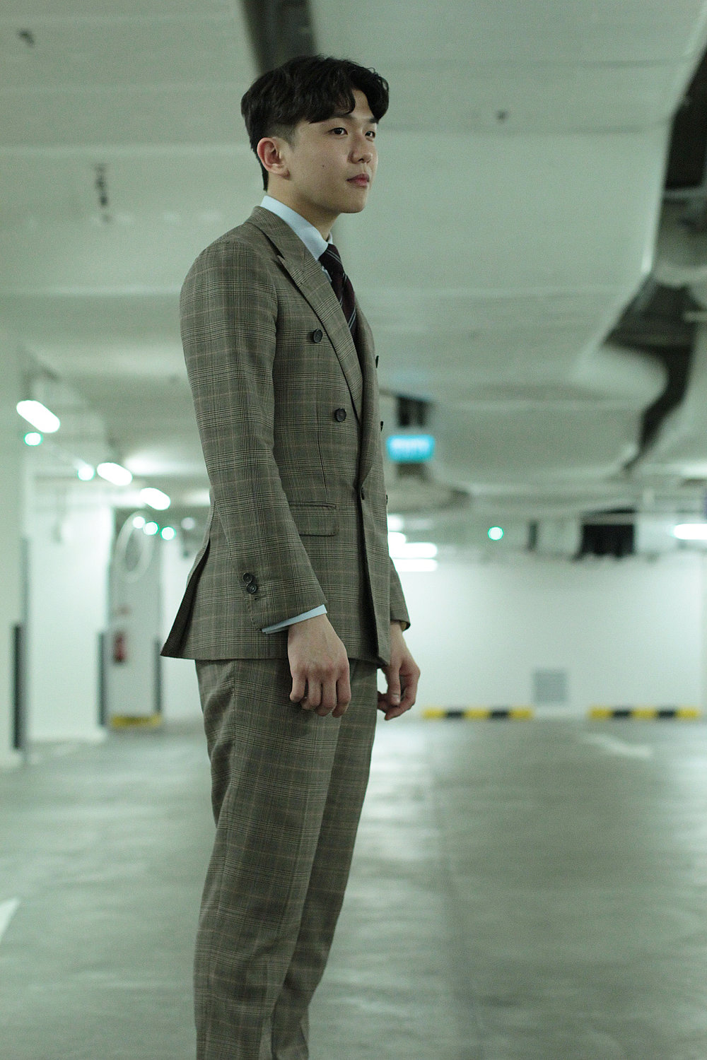 Vintage SIDES - VINTAGE CHECKS DOUBLE BREASTED SUIT