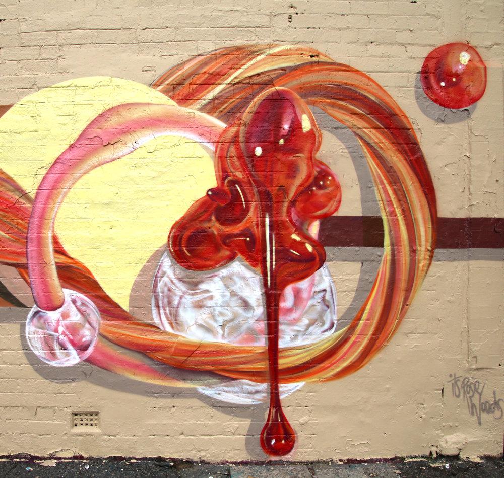 Detail shot of Sackville Mural
