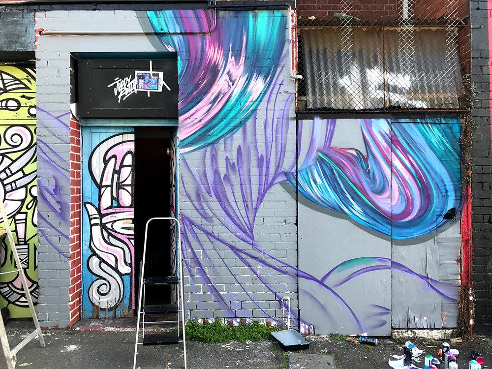 mural development Juddy Roller