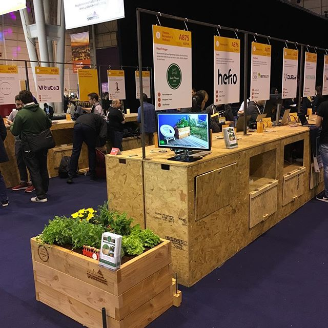 Haut-Potager ready for WebSummit! Come visit us! 🌱🍓🌿🌶