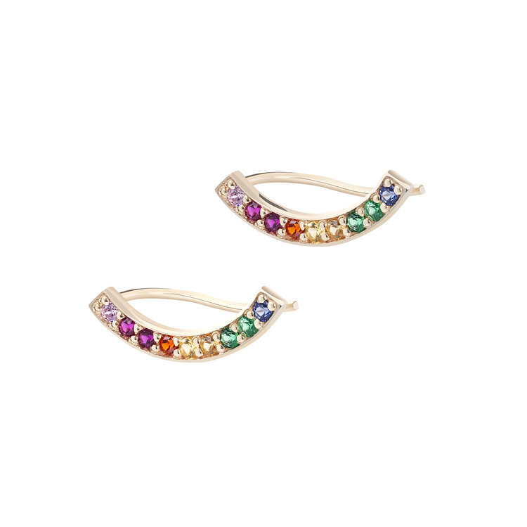 CURVE OF LIFE RAINBOW STUD