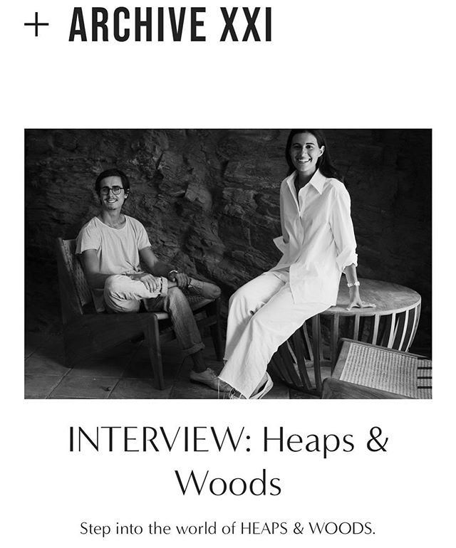 If you don't know already who's behind @heapsandwoods you can now read on our website the interview we did to the couple 🌹 #ARCHIVEXXI (link in bio) by @nataliaswarz and @blancamiro