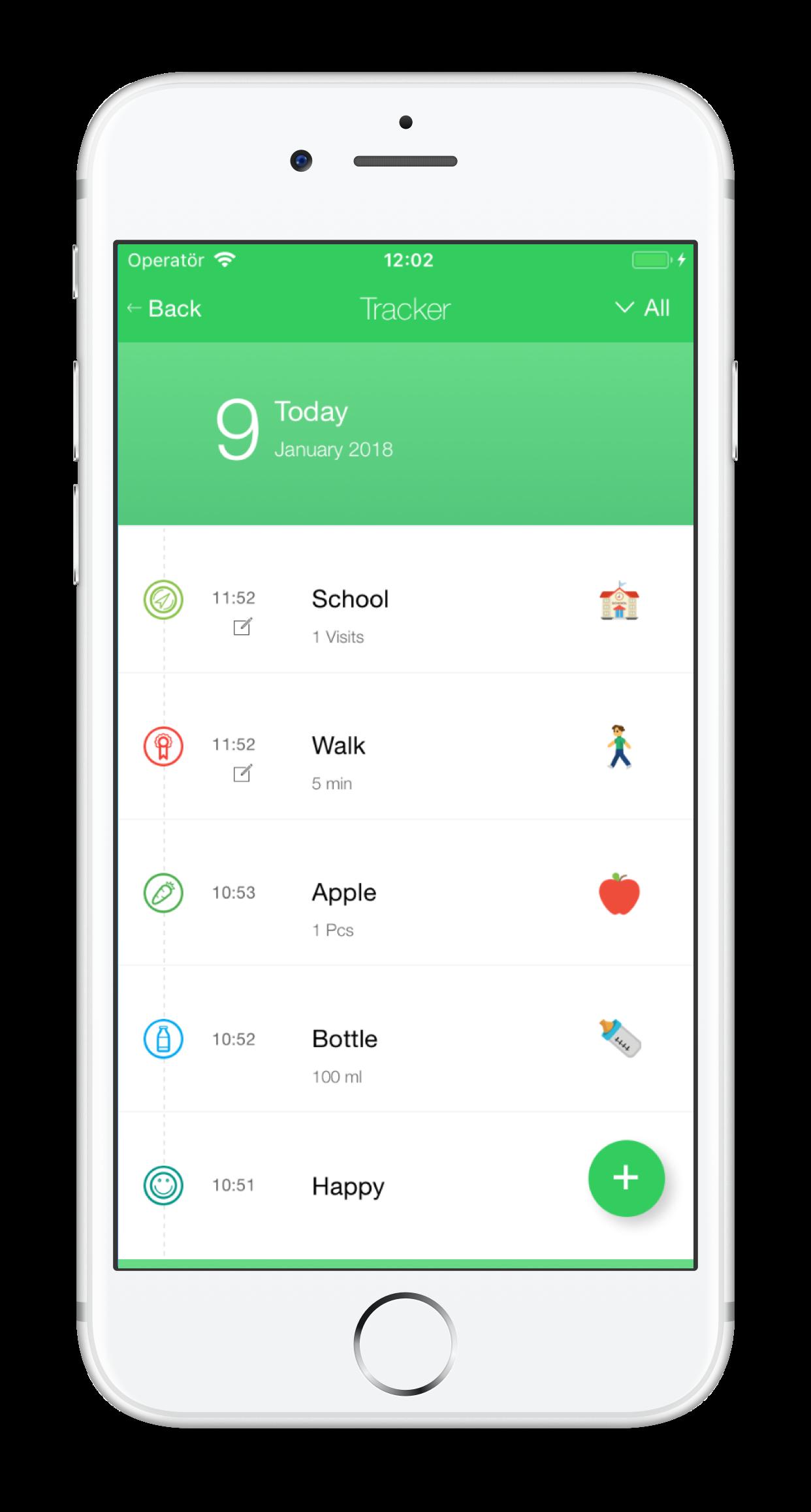 daily activity tracker upcard