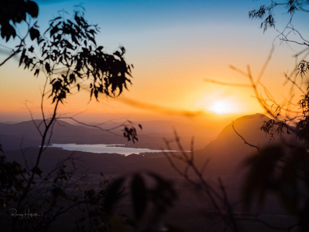 Sunrise over Lake Moogerah   Sunrise from The Governors Chair, Spicers Gap Main Range National Park, QLD Australia.