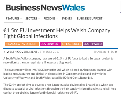 Read about the project in Business News Wales  -