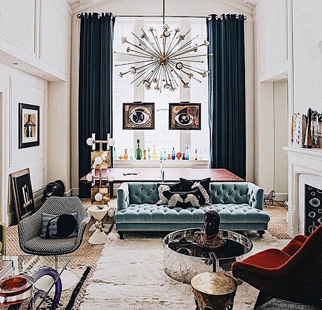 The wonderful home of @jonathanadler as featured in Living Etc. A lesson in Maximalism Xepj