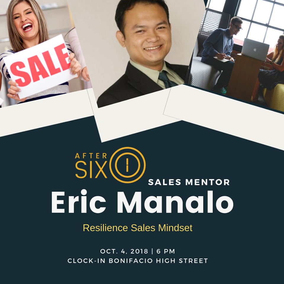When you develop the INCOME GENERATING UNIT of the company (The People), you will achieve the organization's objective to increase profitability. This is why training and developing your team will always be an investment, never a cost. Question is, how resilient are you? Join us on Oct 4 (Thursday) at Clock-in Bonifacio High Street, BGC 7pm to 9pm. To register visit  https://theaftersixclub.com  or email lysa@theaftersixclub.com