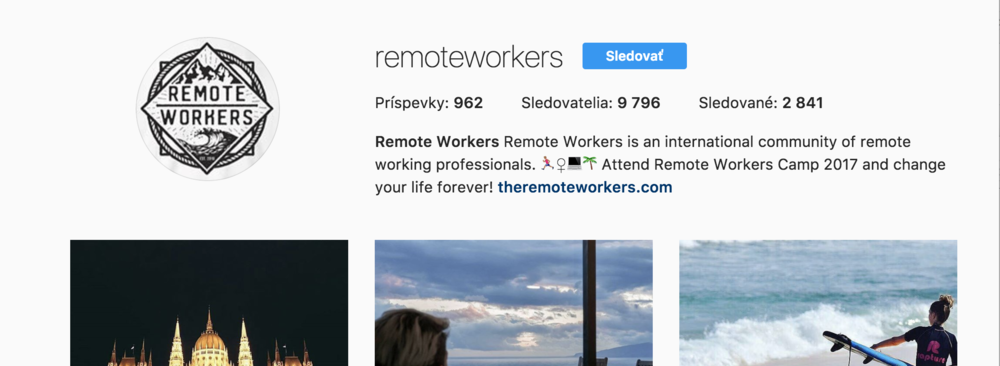 remote workers Instagram