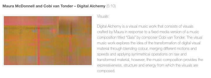 Digital Alchemy screened at Seeing Sound Symposium 2018