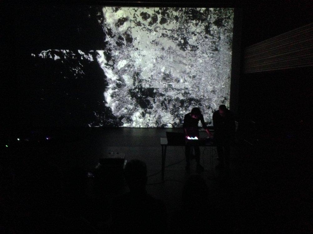 """Myriam Boucher and Pierre Luc Lecours perform 'ELEMENTS"""", Bath Spa, 2018"""