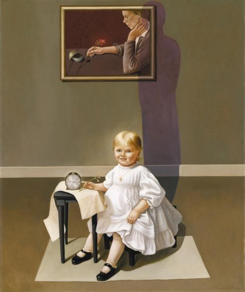 Helen Lundeberg,  Double Portrait of the Artist in Time , 1935, oil on fiberboard, Smithsonian American Art Museum, Museum purchase, 1978.51 Smithsonian American Art Museum