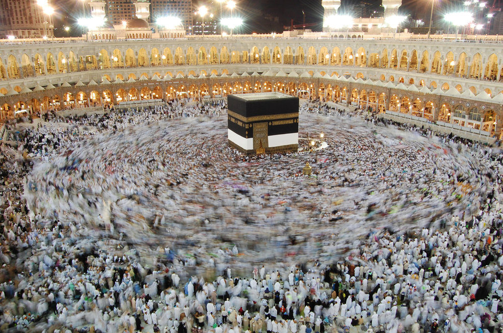New York Times: Hundreds of thousands gather around the Grand mosque in Mecca