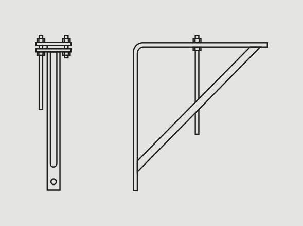 LIght-welded steel bracket - Learn more >
