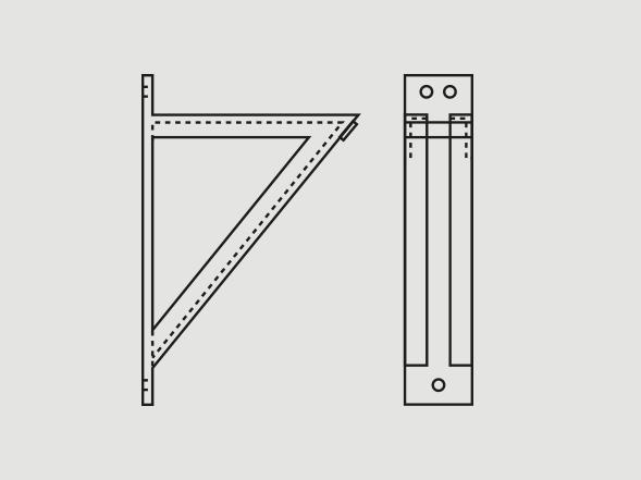 Heavy-welded steel bracket - Learn more >