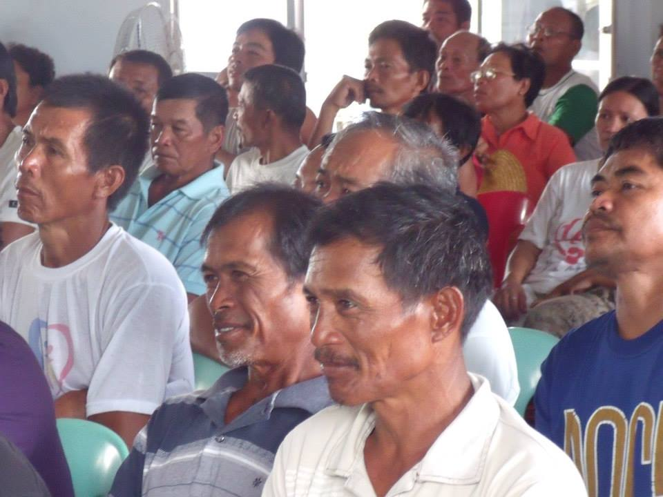Local meeting with coconut farmers
