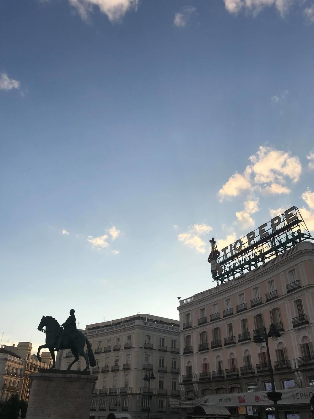 Puerta del Sol, Madrid at golden hour