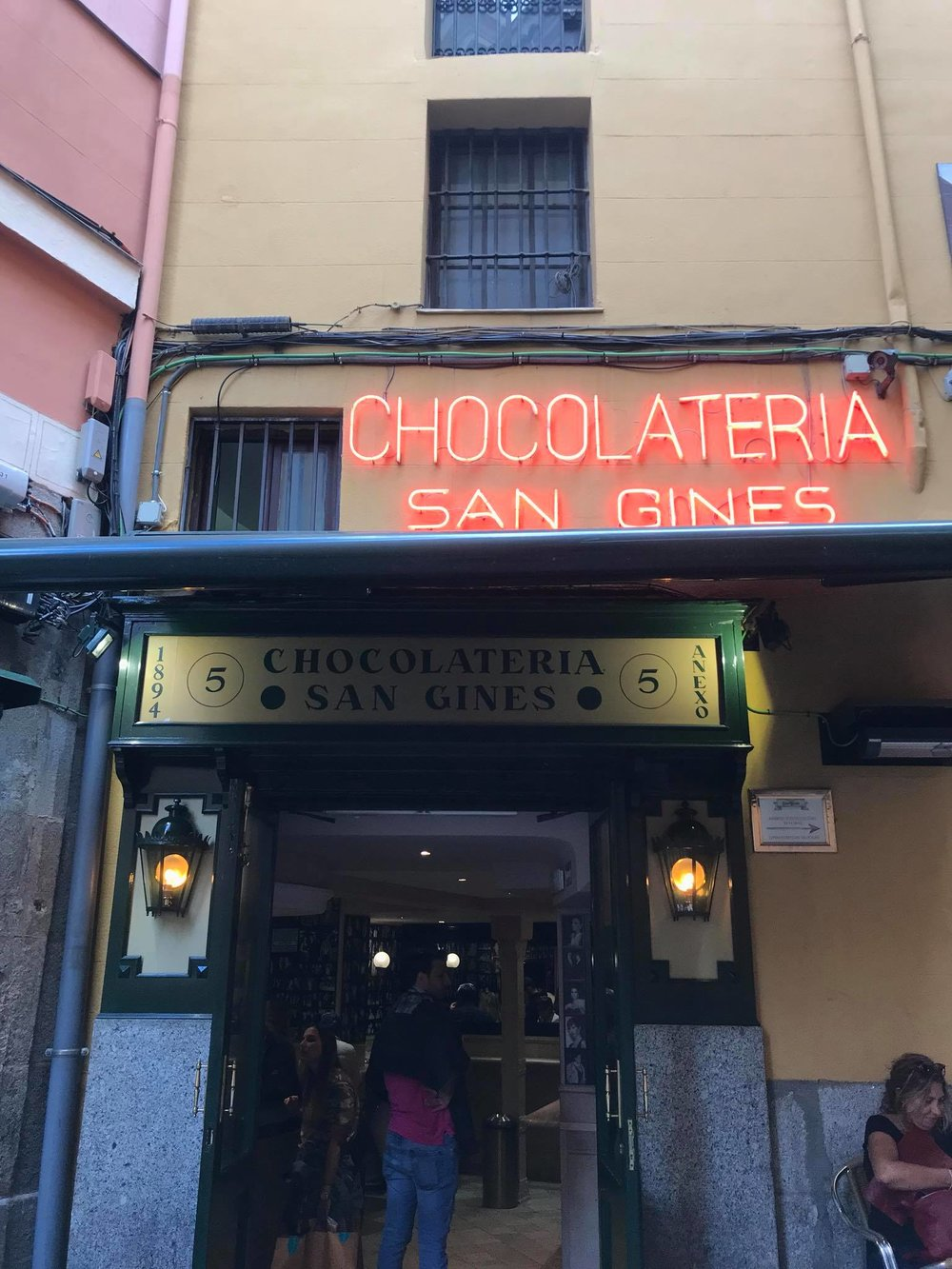 The famous Chocolatería San Ginés