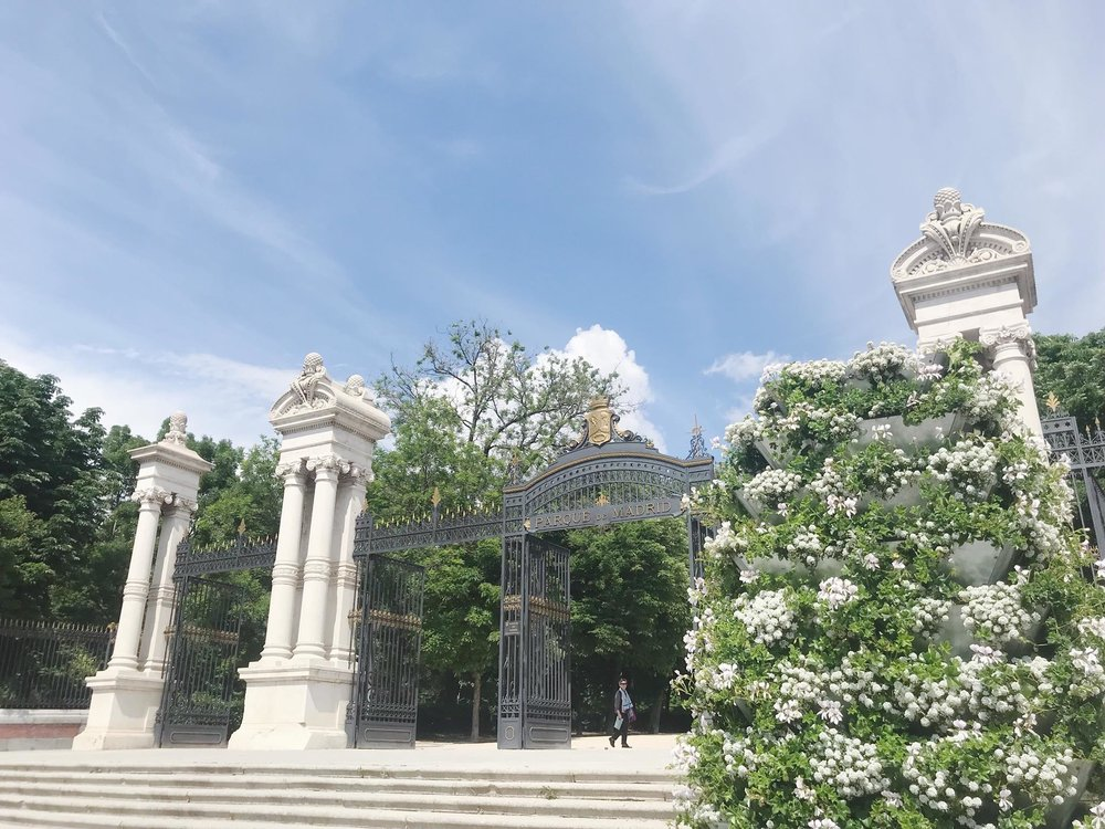 An entrance to Buen Retiro Park, Madrid